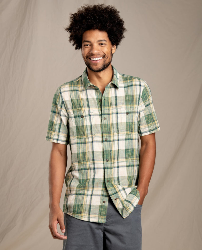 Smithy duck green short sleeve shirt by Toad&CO