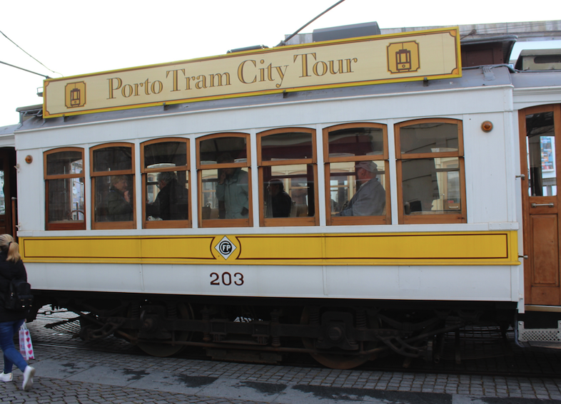 One of the old trolleys that cater to school groups and tourists