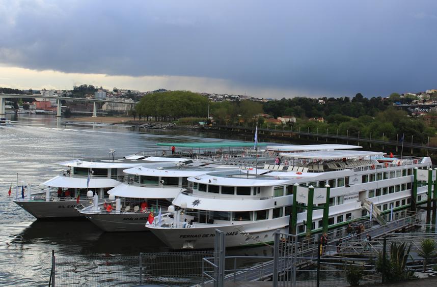 CroisiEurope river boats in Porto
