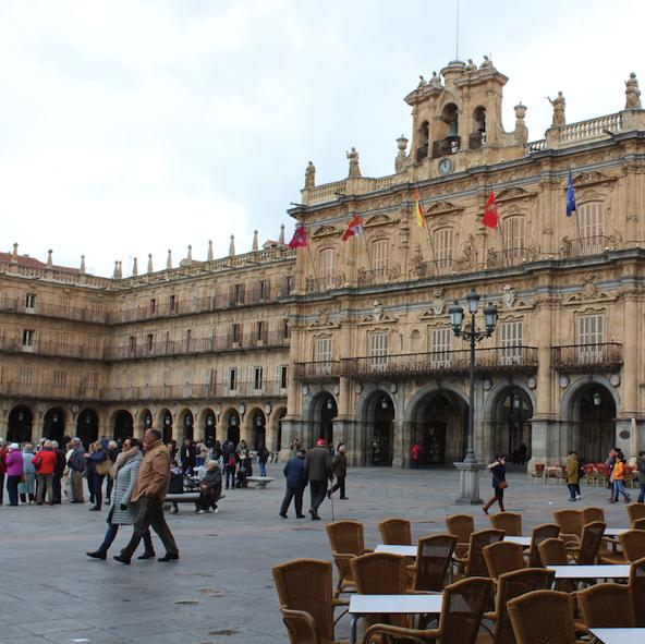 Main square in Salamanca Spain