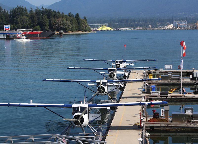 Seaplane port on the Vancouver Waterfront