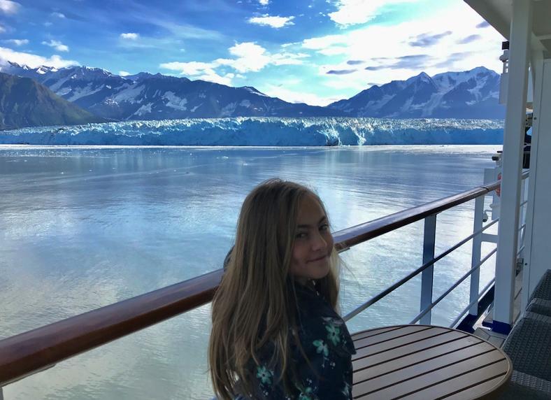 Alexandra Makaev on one of her many Alaska cruises