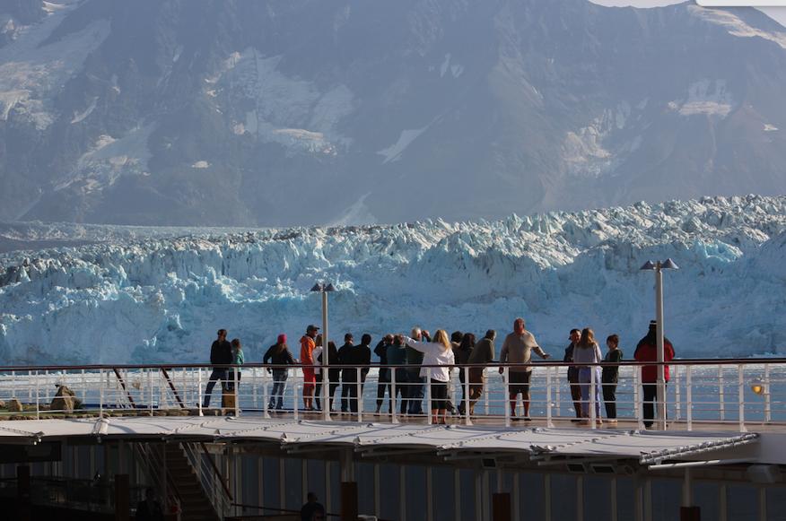 Regent Seven Seas Mariner near the Hubbard Glacier in Alaska