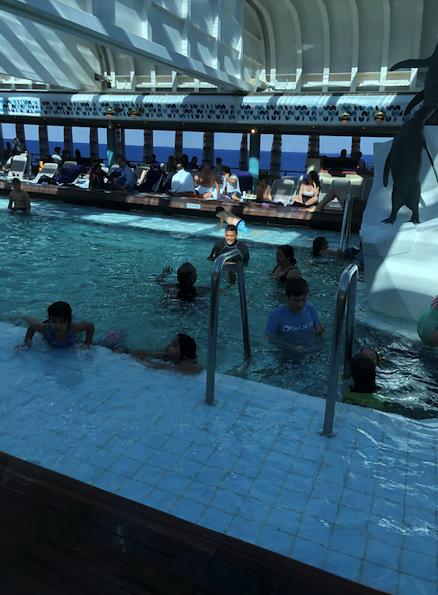 Indoor pool on Oosterdam