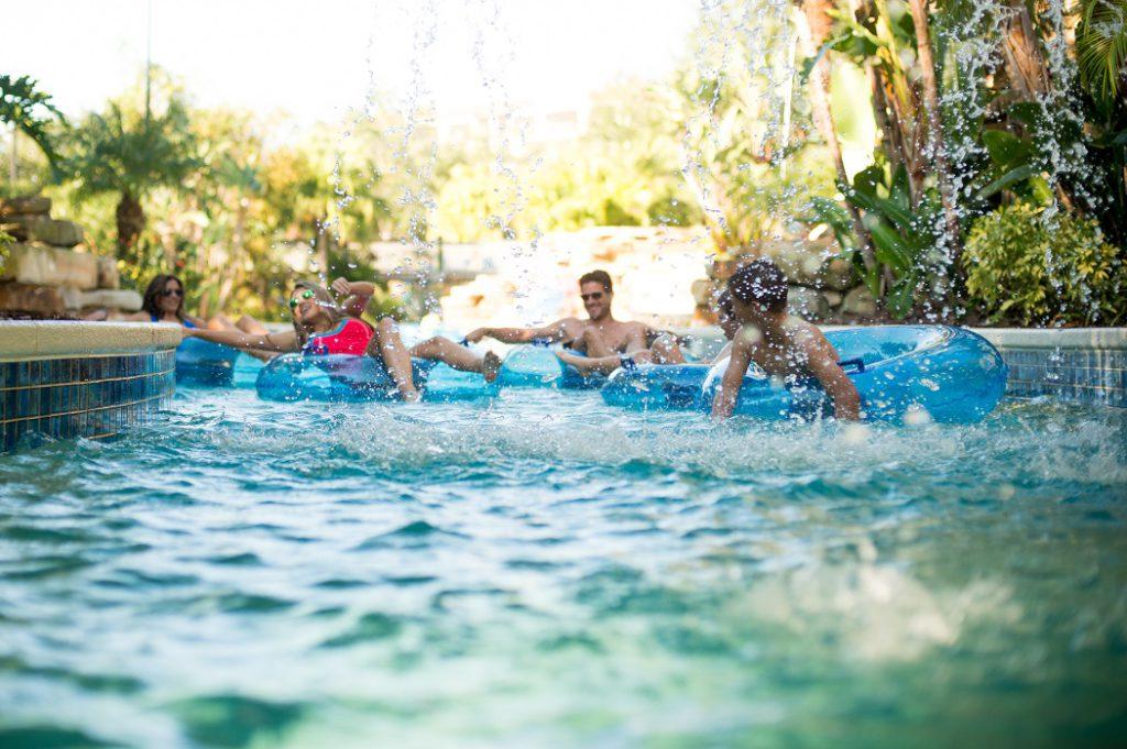 Splashing around in a Holiday Inn pool
