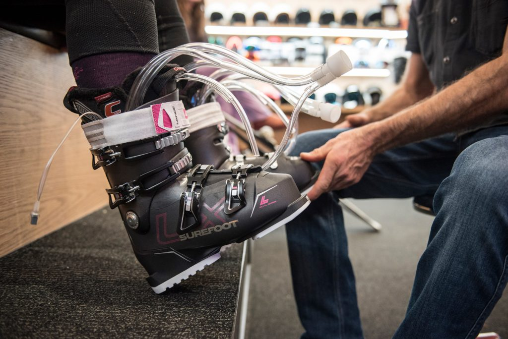 Surefoot boot fitting