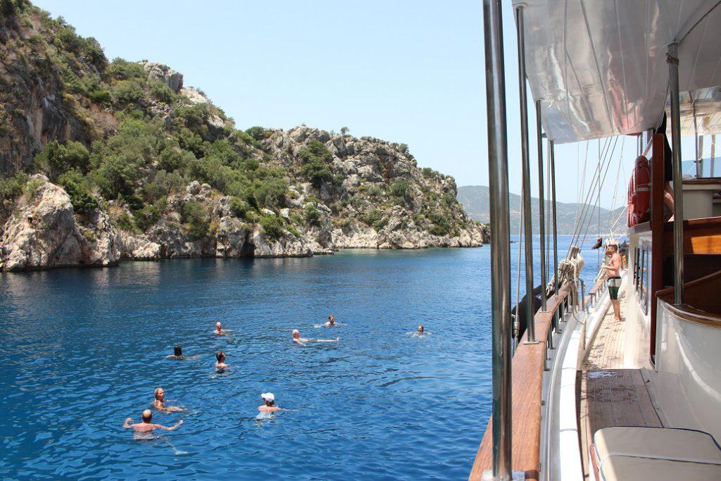 Swimming off the gulet, Aegean Clipper
