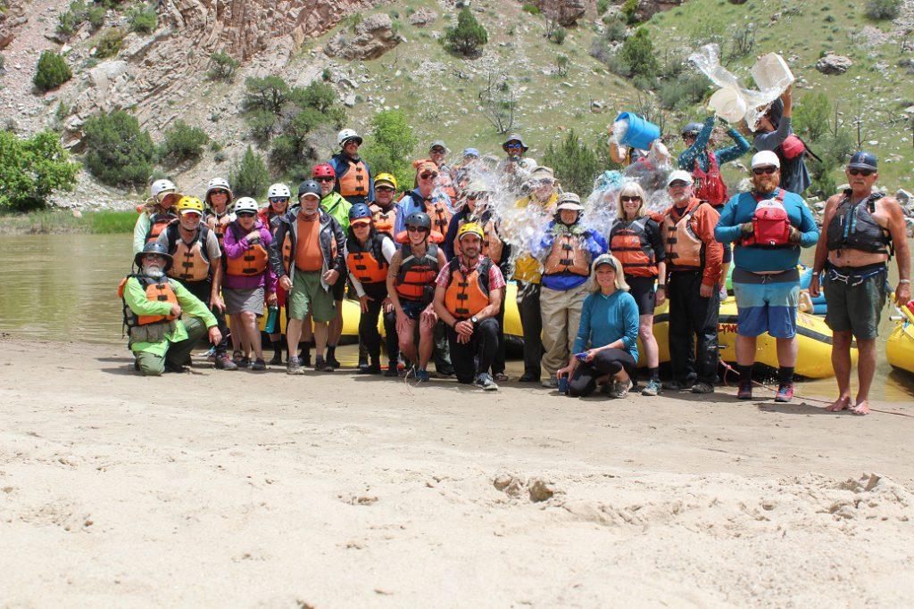 The guests and guides at lunch on the last day of the trip. Thanks so much for the dunking Kyle!
