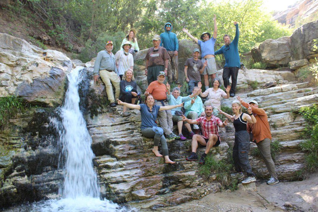 The kids at Butt Dam Falls