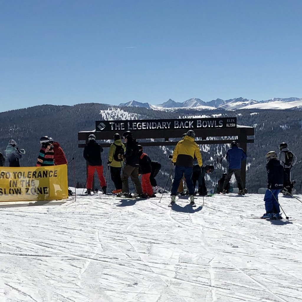 The legendary back bowls at Vail