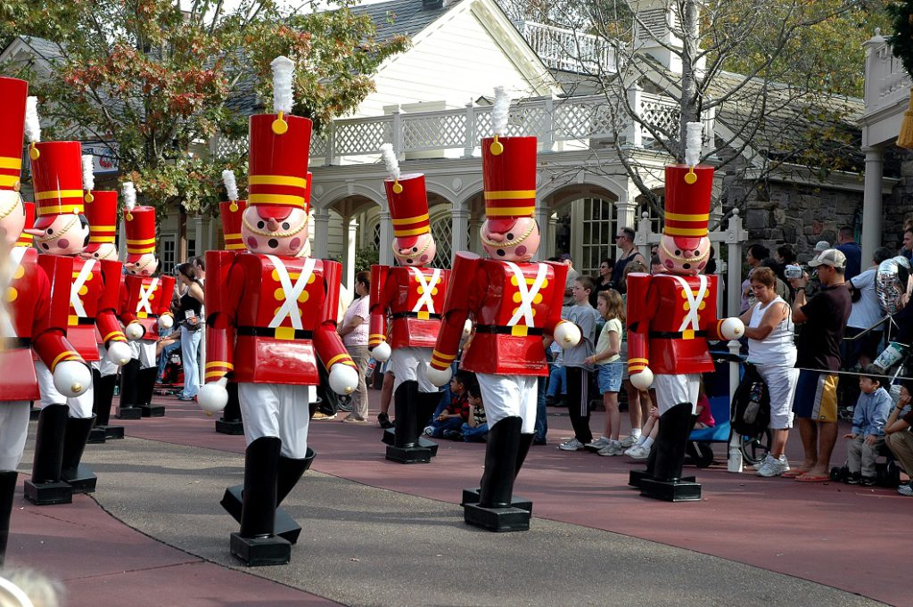 Toy Soldiers march at the Walt Disney World Christmas Parade