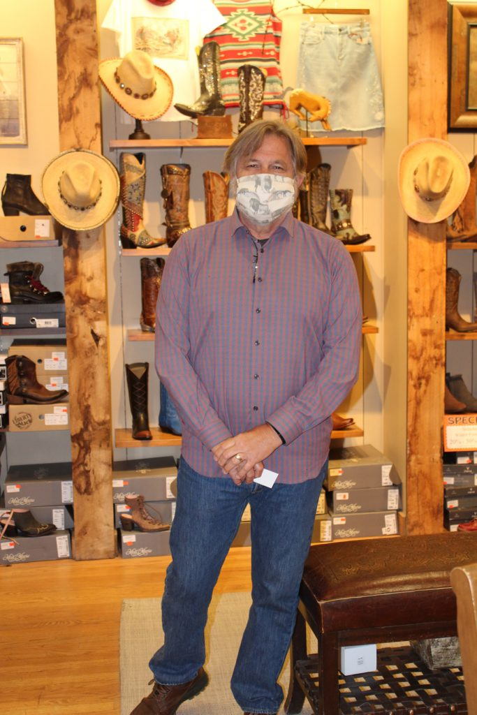 Very responsible store owner Jeff Roush owner of Wyoming Outfitters in Jackson