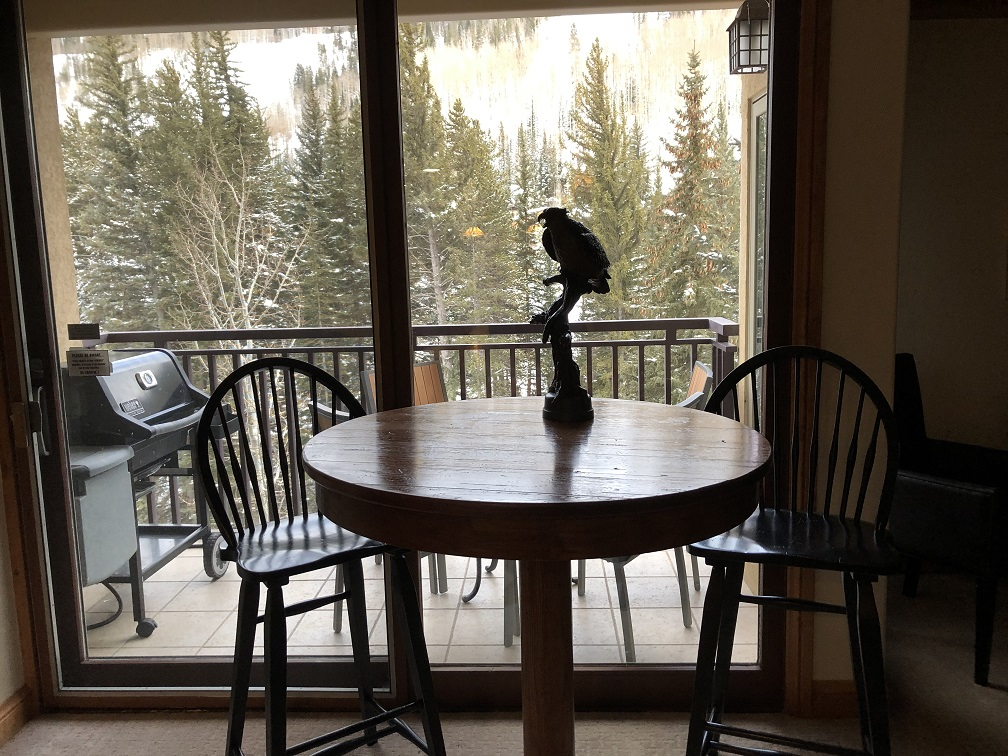View from living room at The Antlers Vail