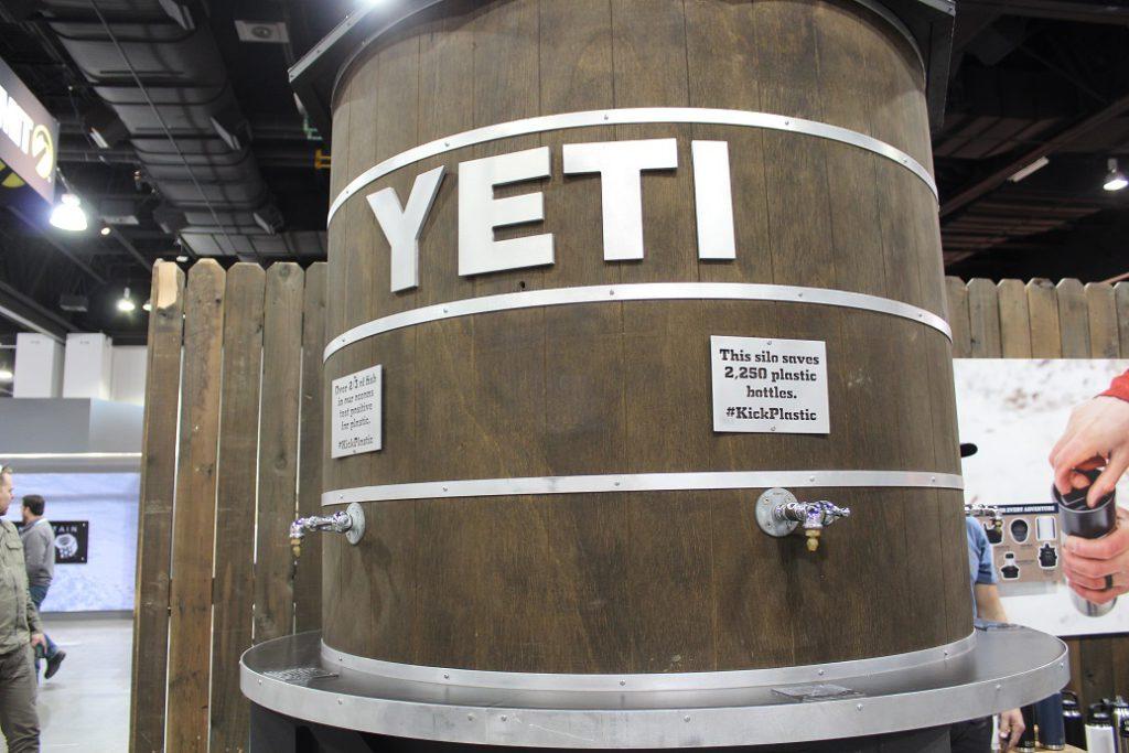 Yeti's huge water dispenser