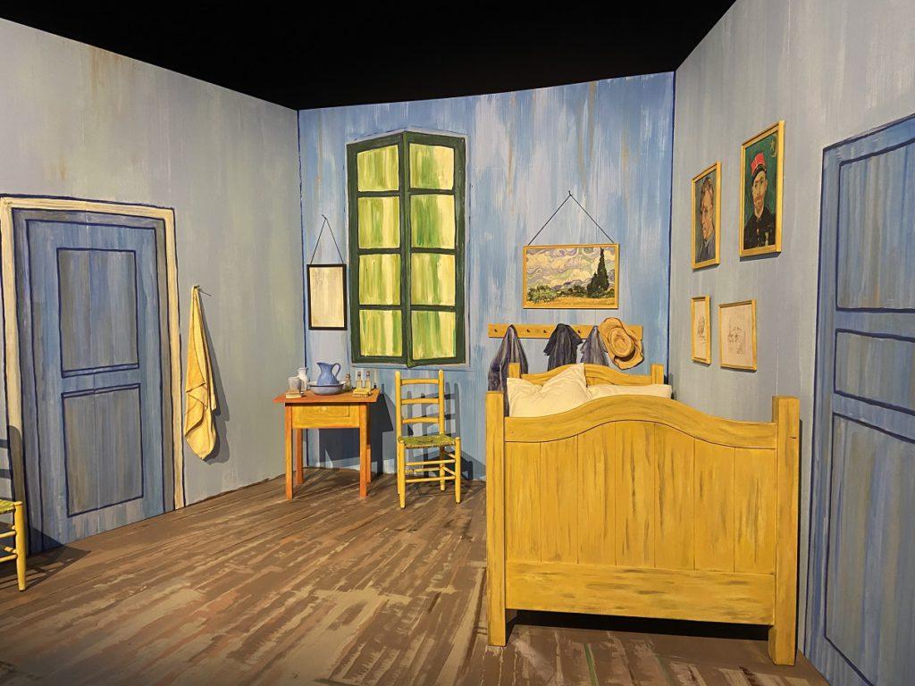 Van Gogh's bedroom recreated