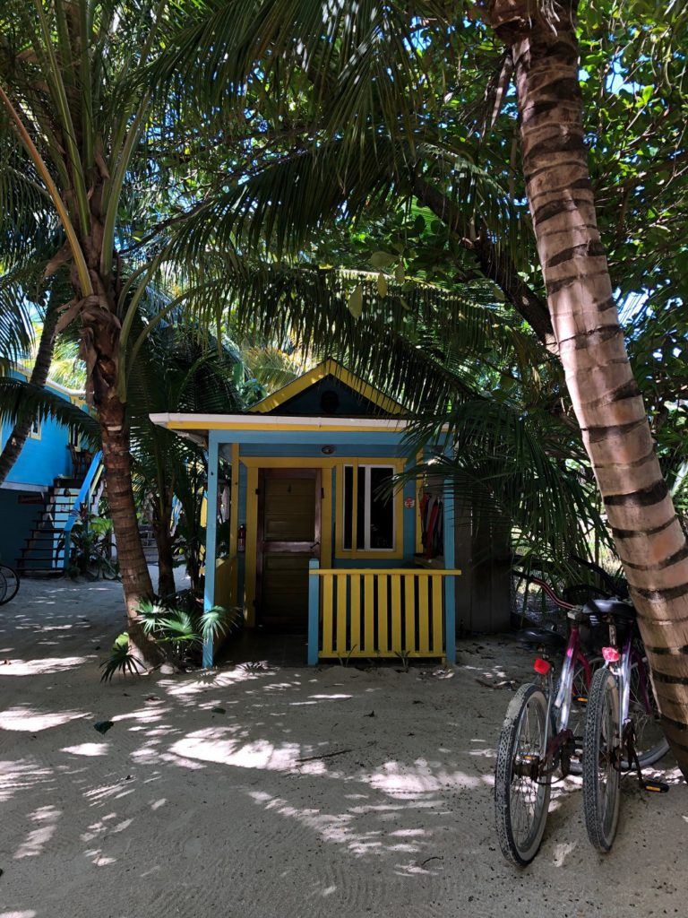 Our beach cabana in Belize