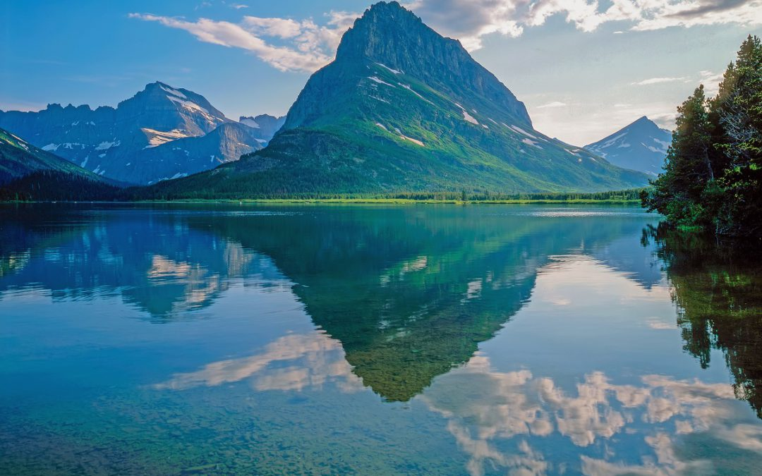 Swift Current Lake in Glacier NP, Montana.