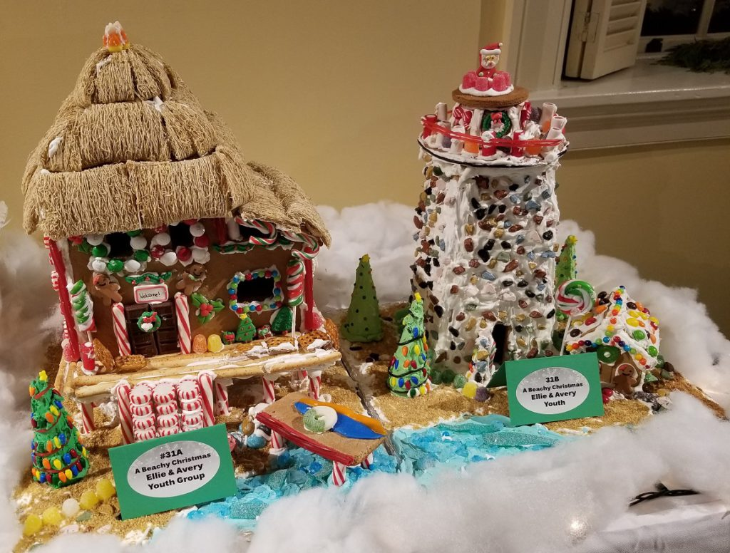 """Youth category lighthouse entry. """"Vintage Christmas in Portsmouth."""""""