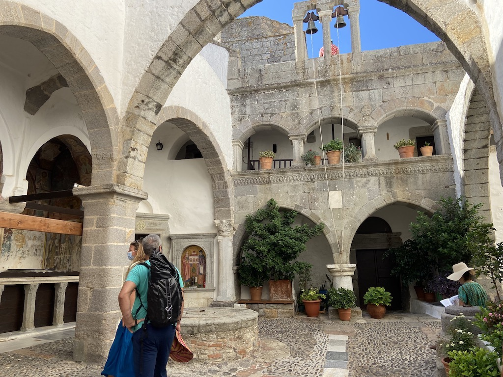 Inside the beautiful Monastery of St. John on Patmos