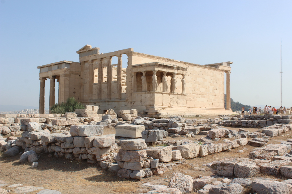 The temple on the Athens Acropolis shared by Athens and Poseidon