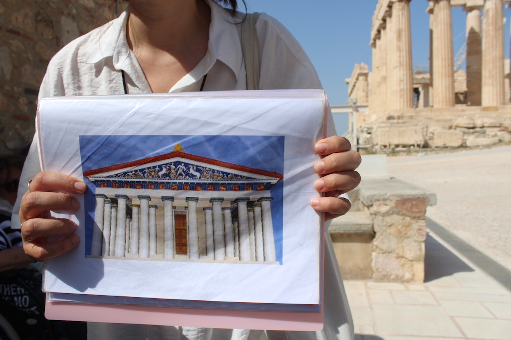 What the Parthenon is thought to have looked like in ancient times