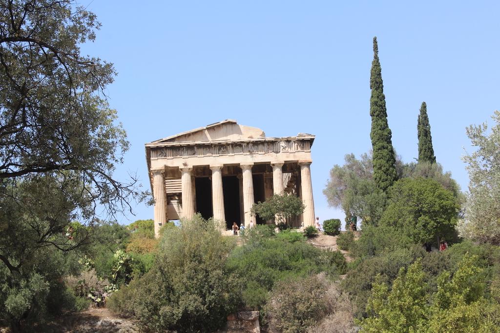 Near the Acropolis, the Temple of Hephaistos