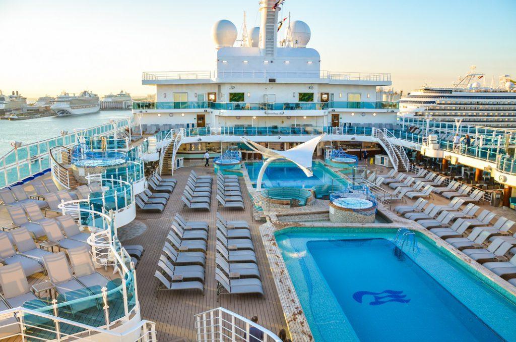 Princess cruise ship pool deck