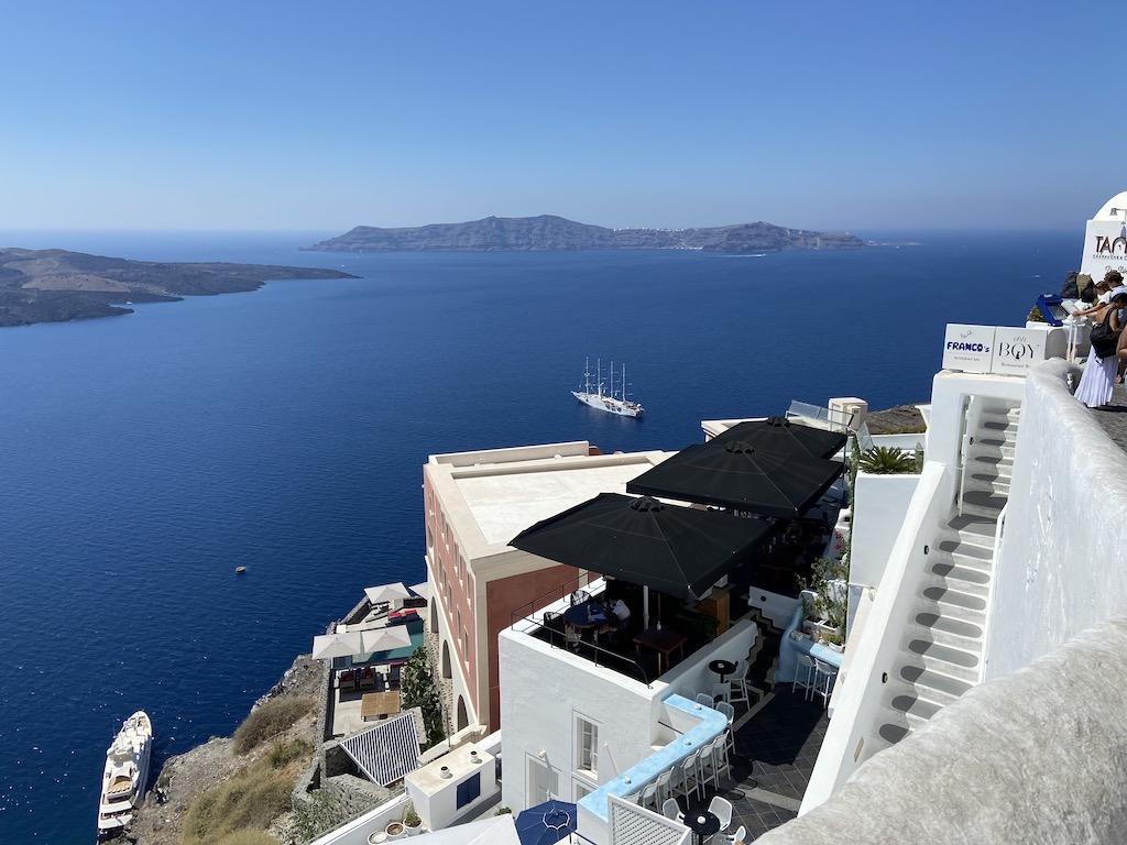 View of Fira atop the Santorini caldera