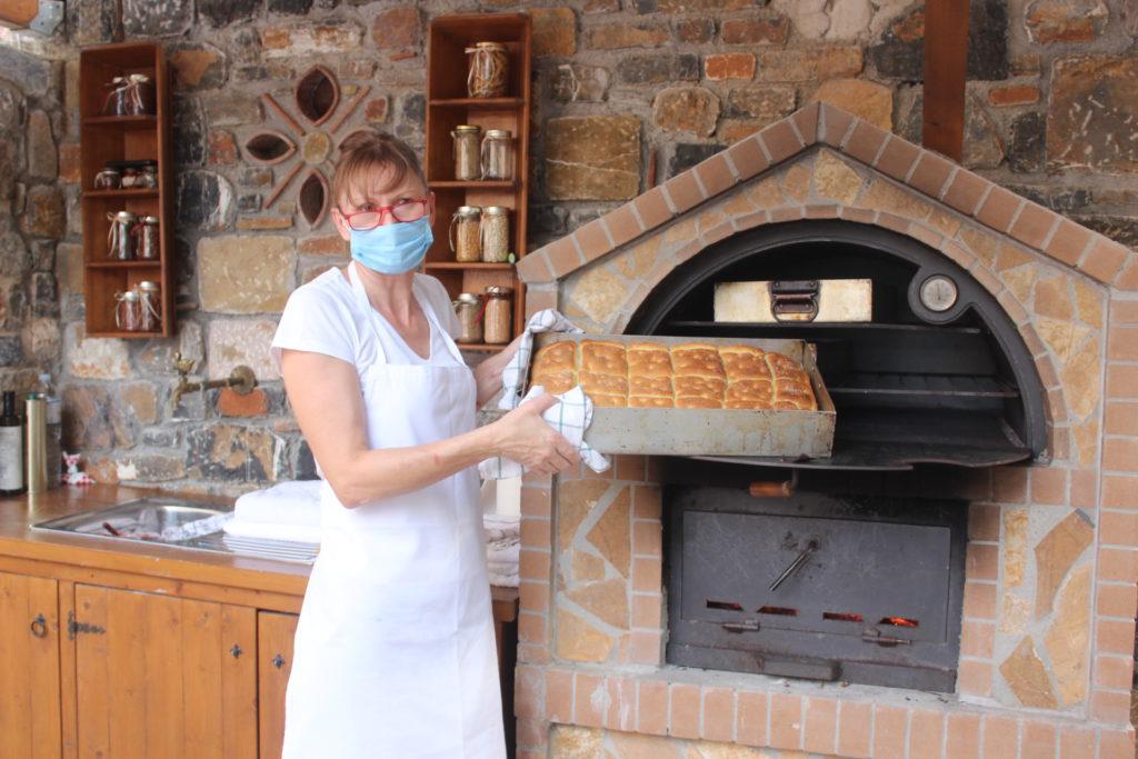 Baking sourdough bread at theLiotrivi Mansion