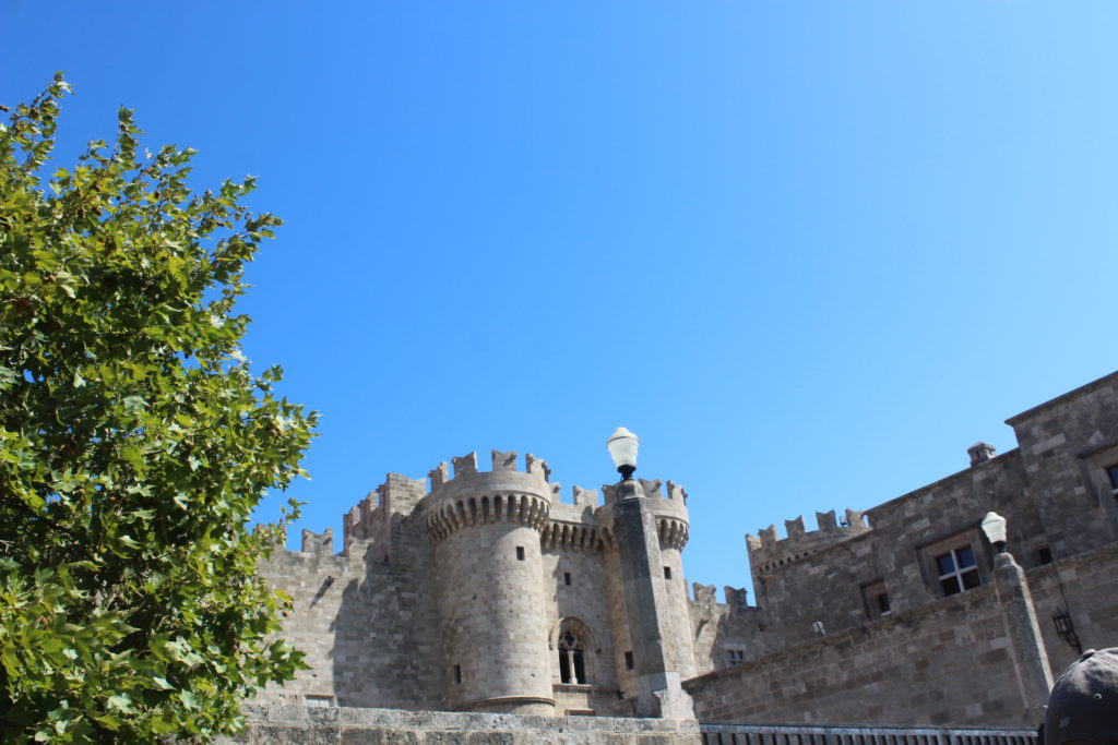 Outside the Palace on Rhodes built by the Knights of St. John