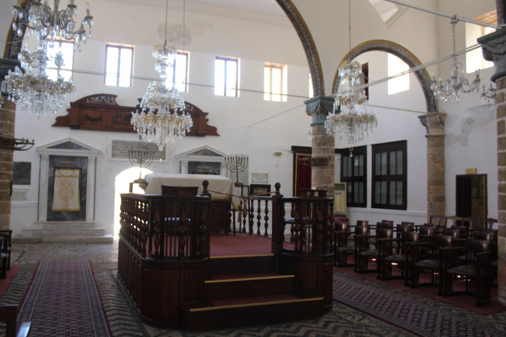 The only synagogue remaining on Rhodes
