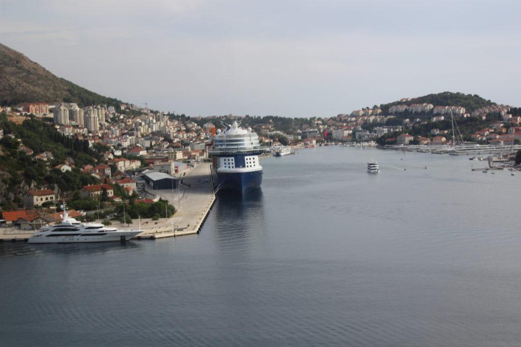The Celebrity Apex docked in Dubrovnik Croatia