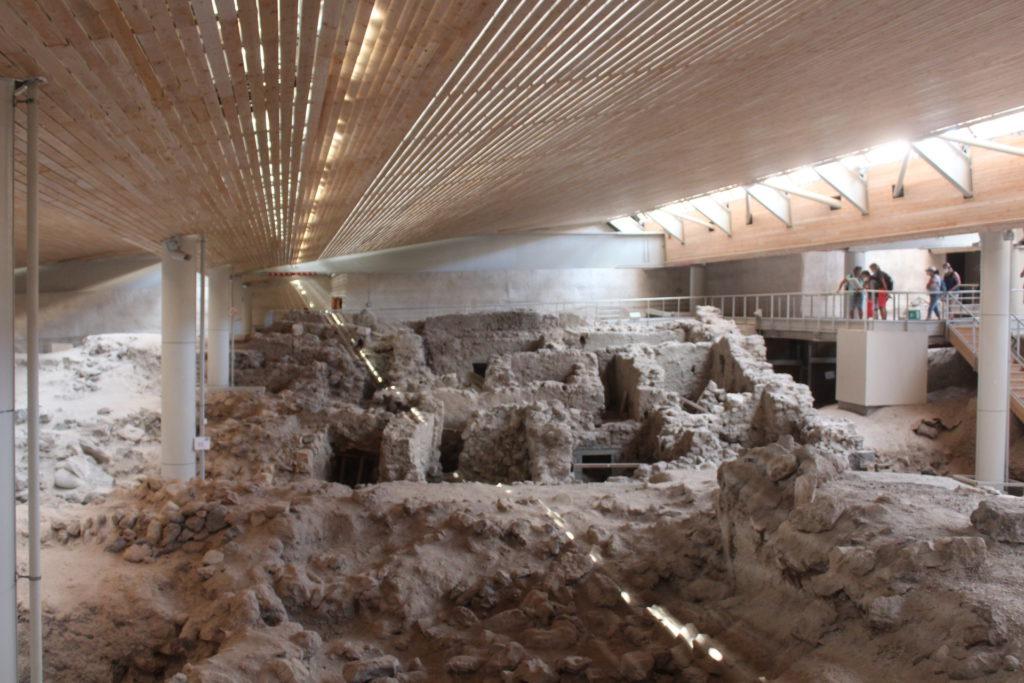 The archaeology dig at Akotori on Santorini