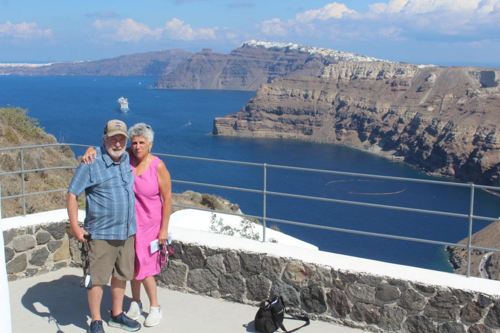 Quite a view on Santorini