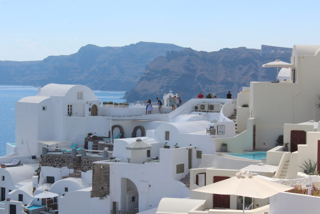 The picturesque town of Oia on Santorini