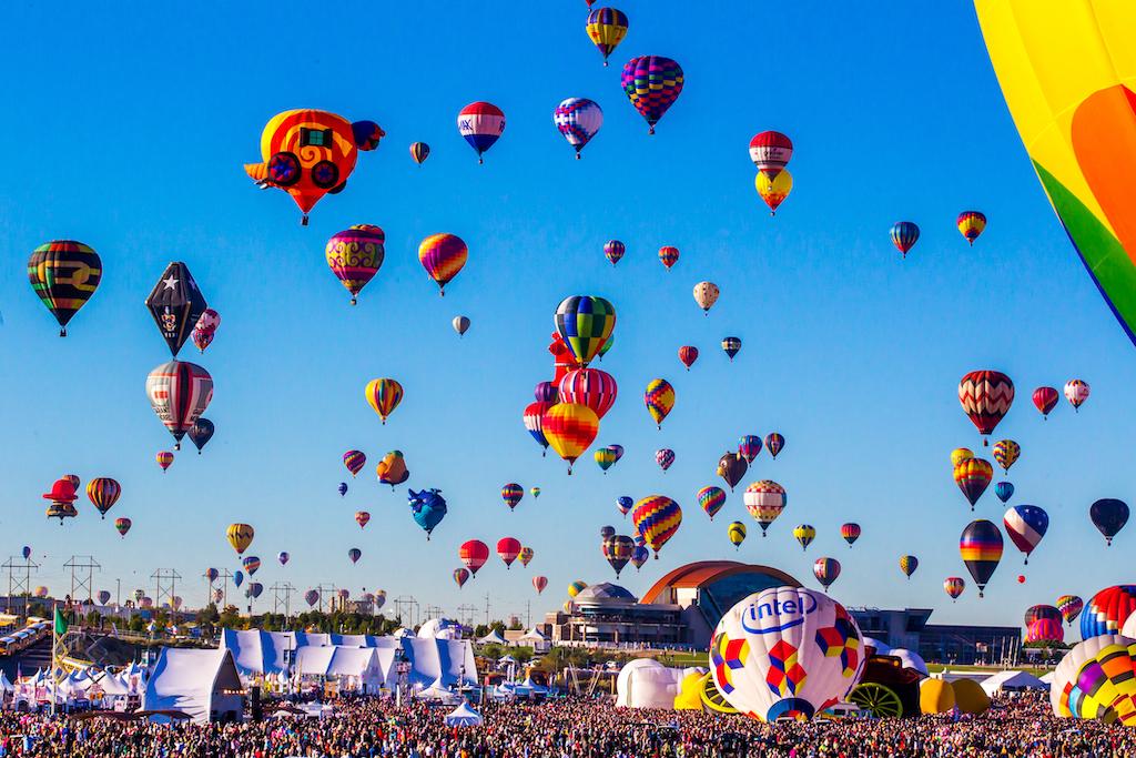 The International Albuquerque, New Mexico, Balloon Fiesta.