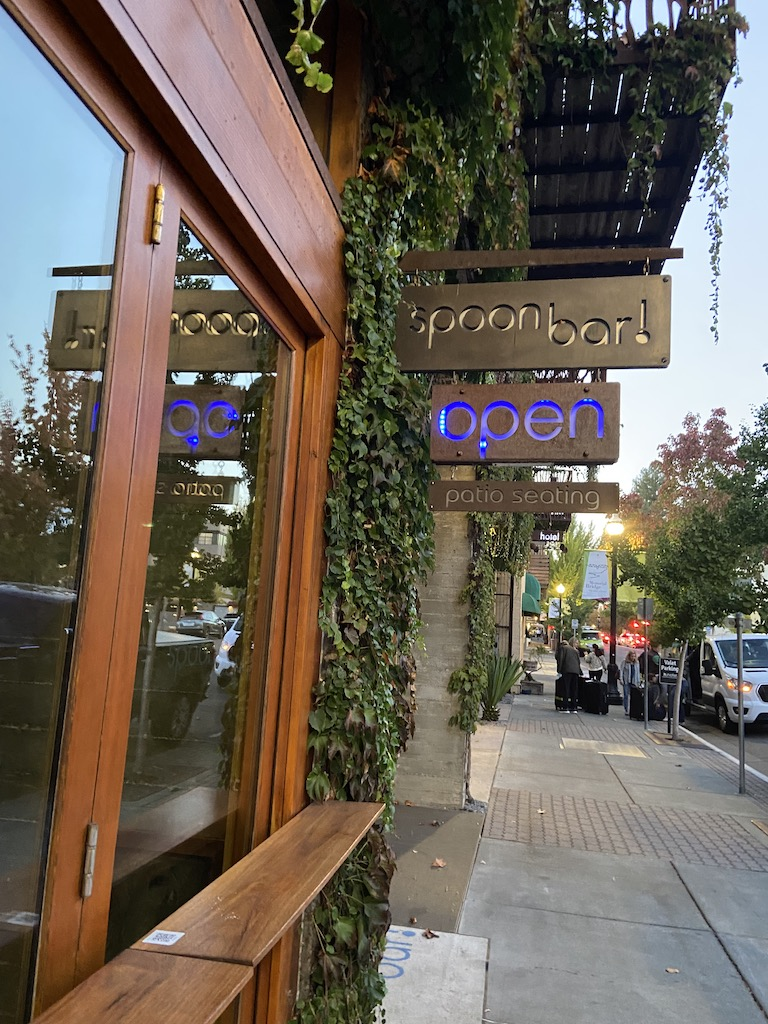 The Spoon Bar in Healdsburg is very popular with families