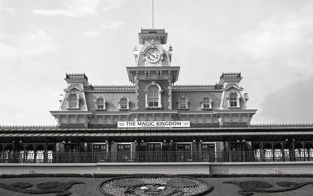 Entrance to Walt Disney World when it opened in 1971